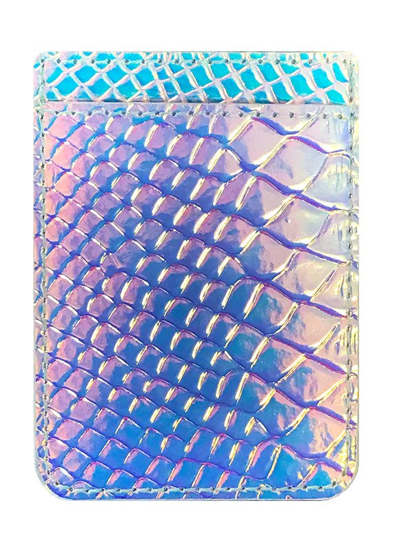 hologram snakeskin leather phone