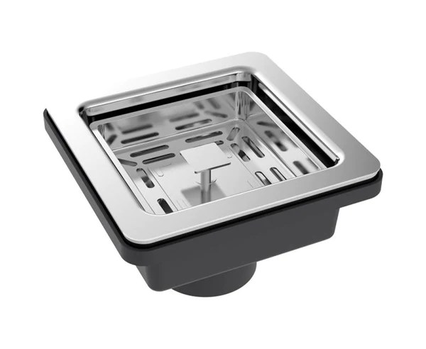 square kitchen sink ikea table with drawers basket strainer for cask industries