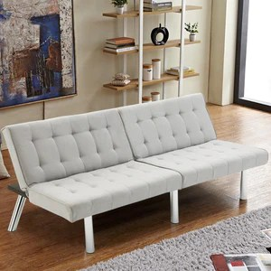 futon style living room side tables uk modern couch split back sofa bed cliche