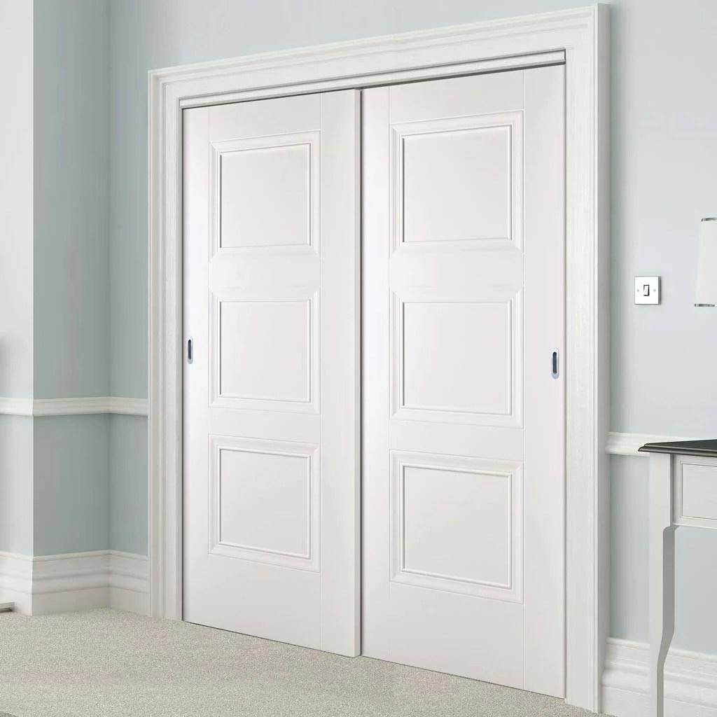 two sliding wardrobe doors frame kit amsterdam 3 panel door white primed
