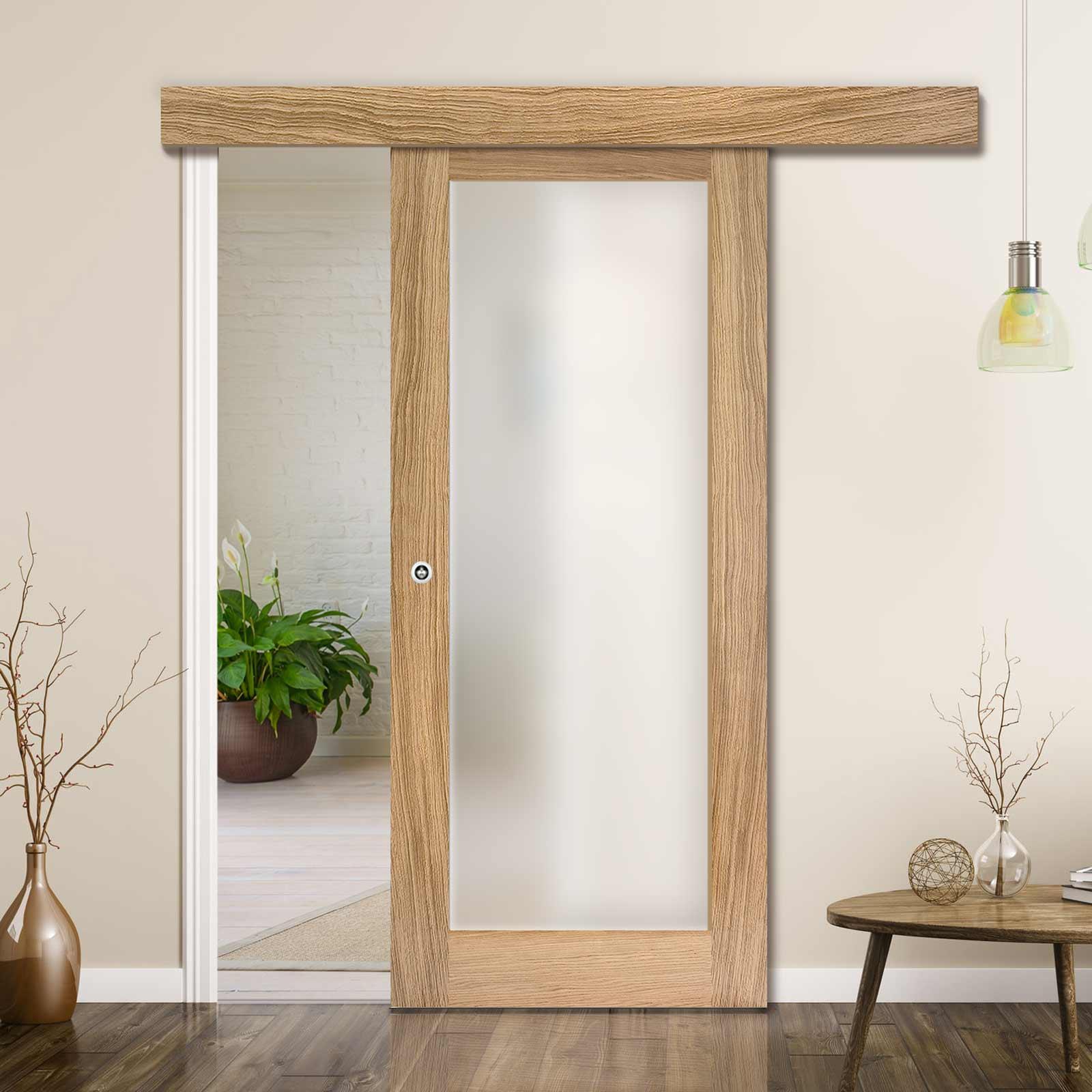 single sliding door wall track pattern 10 oak door frosted glass