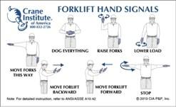 forklift hand signal card
