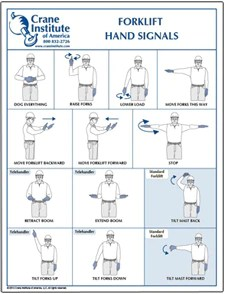 forklift hand signal chart