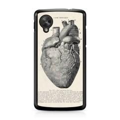 Anatomical Heart Diagram Piano Keyboard With Notes Vintage Medical Nexus 5 Case Persona Google