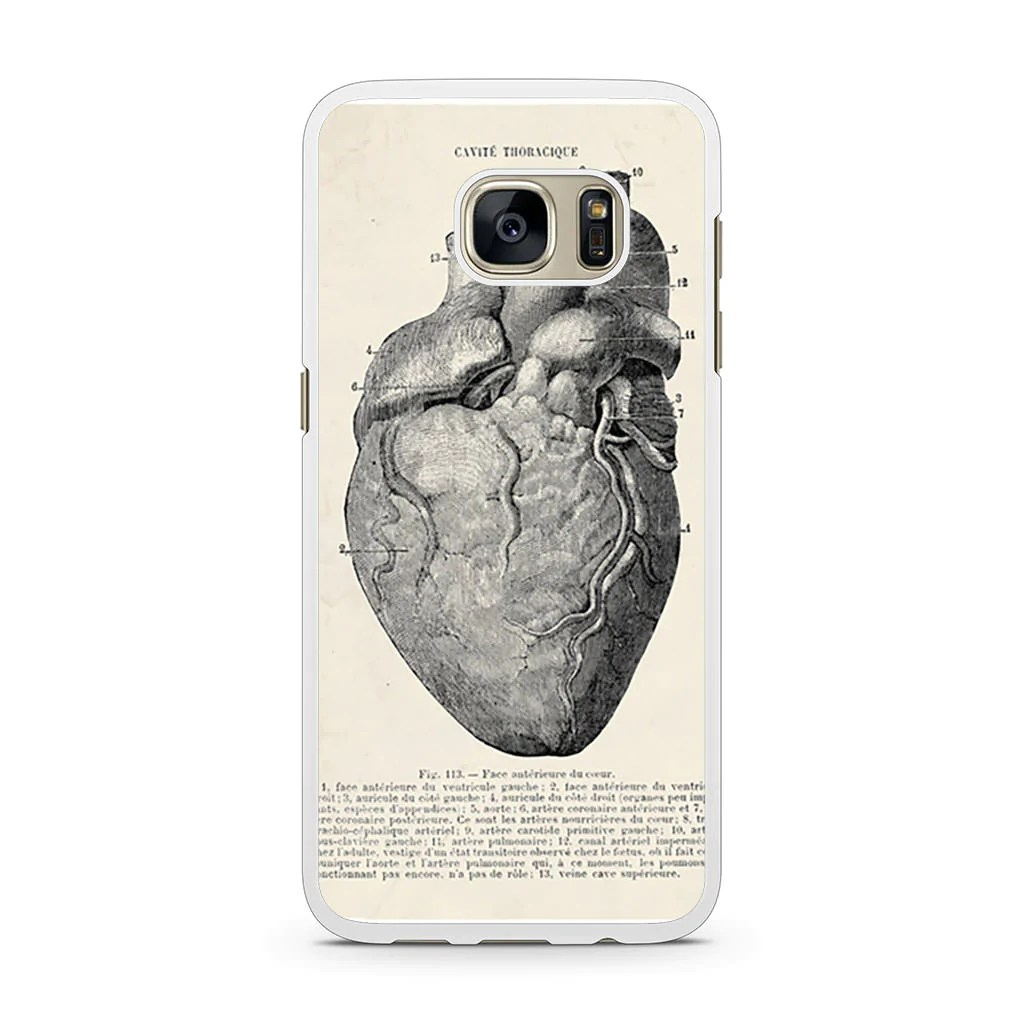 anatomical heart diagram home wiring diagrams 3 way switches vintage medical samsung galaxy s7 case