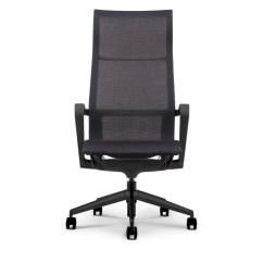 Executive Mesh Office Chair Back Pillow Bella High Profile Freedman S Furniture W Black Nylon Frame