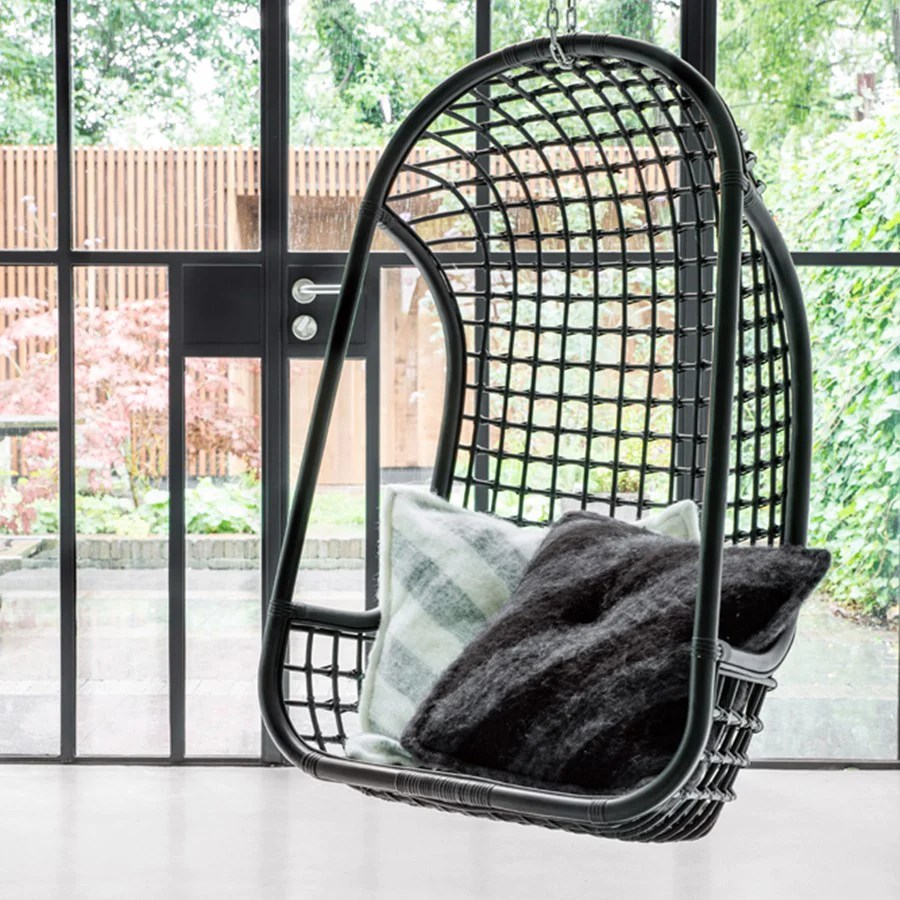 Swinging Chair Rattan Hanging Chair Swinging Chair Black