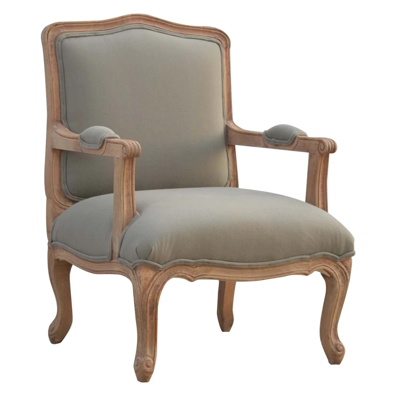 Upholstered Arm Chairs French Styled Upholstered Arm Chair