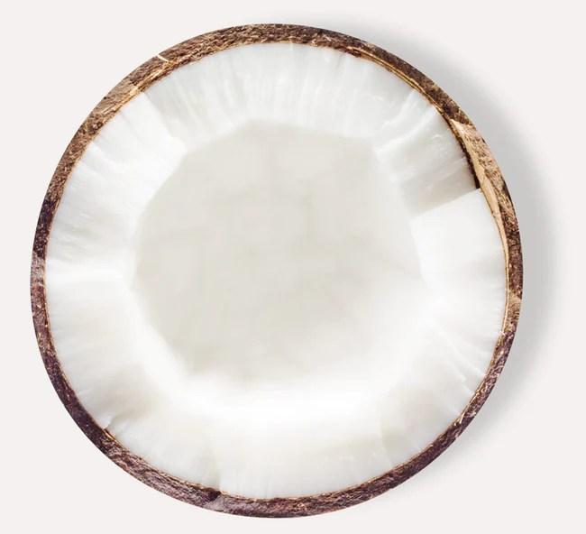 Open half of coconut
