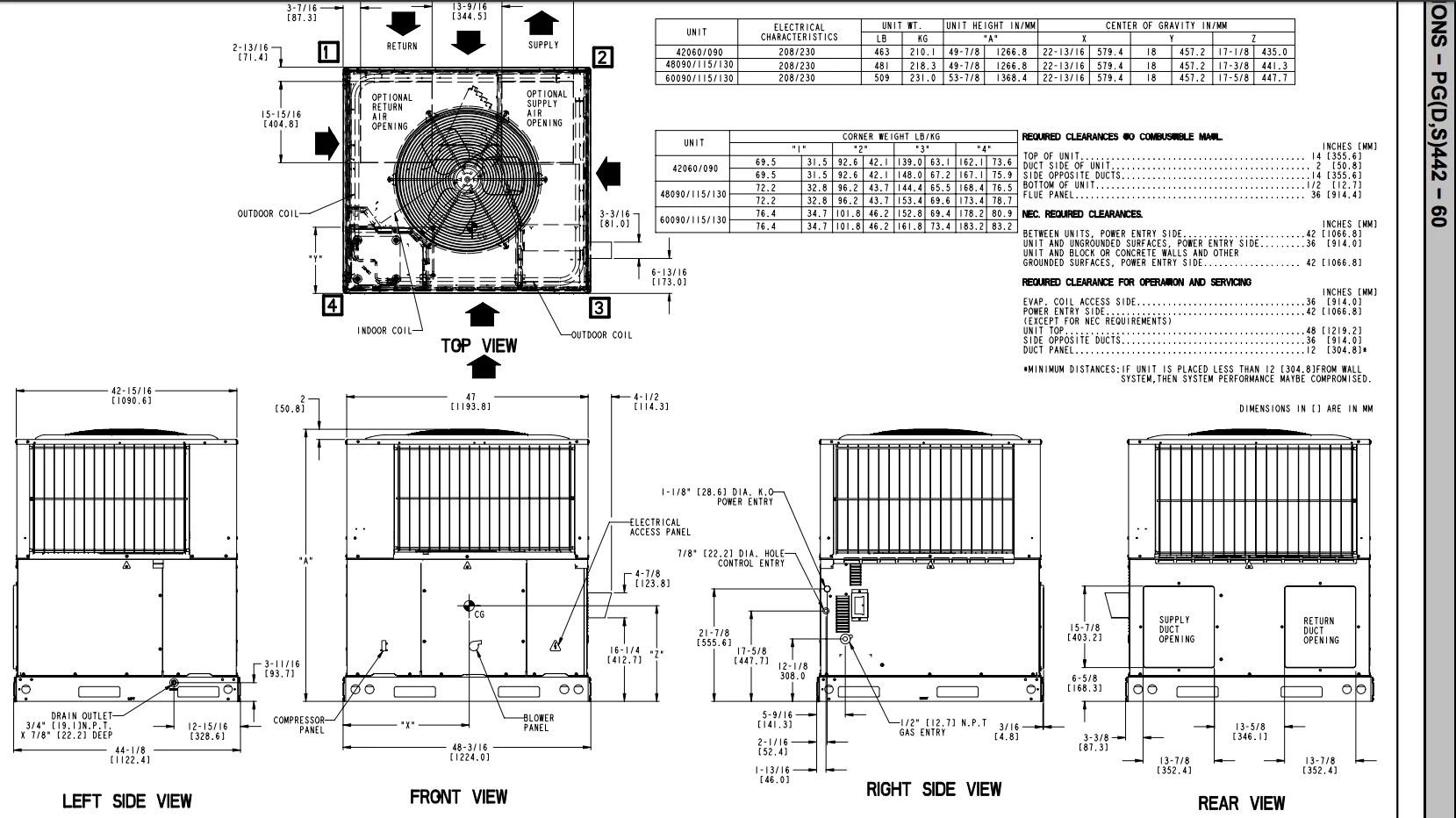 medium resolution of icp heil tempstar 4 ton packaged unit 14 seer 230v 1 phase gas heater ac