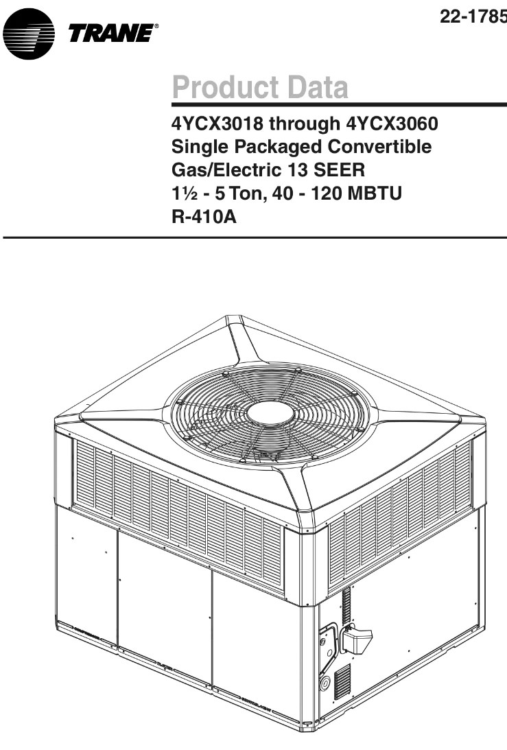 hight resolution of  trane 5 ton packaged unit commercial 208 230v 3 phase 120k btu gas heat