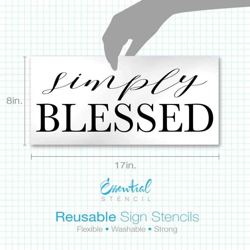 Simply Blessed Our Nest Beautiful Farmhouse Sign