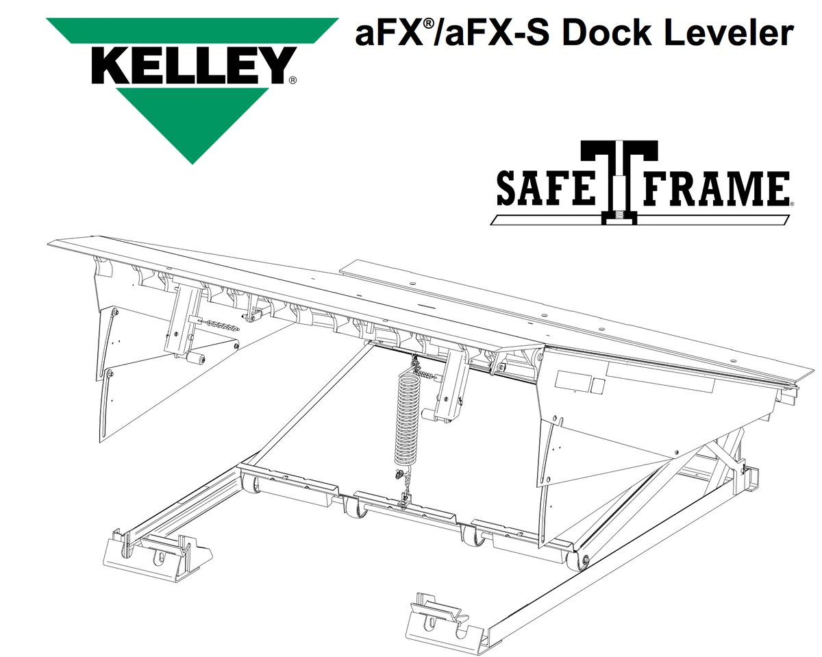 hight resolution of parts kelley afx air dock leveler in stock loading dock pro