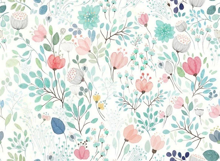 Cute Mint Green Wallpaper Buy Botanicals Floral Wall Murals At 20 Off Staunton