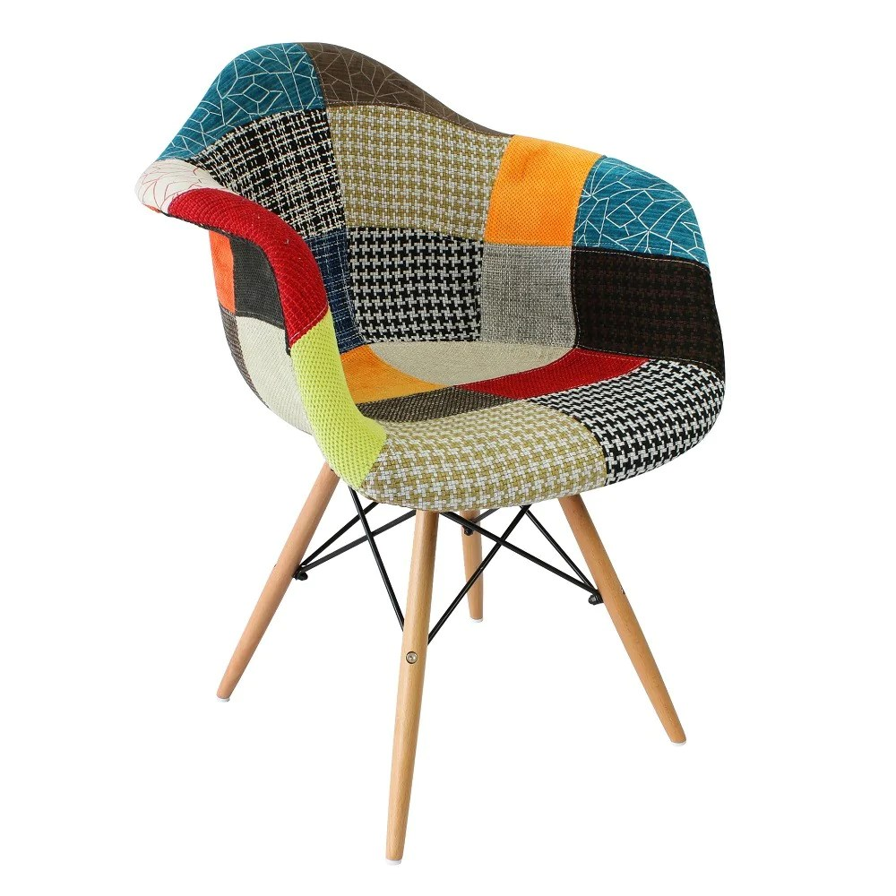 Eanes Chair Eames Daw Style Chair Patchwork Fabric