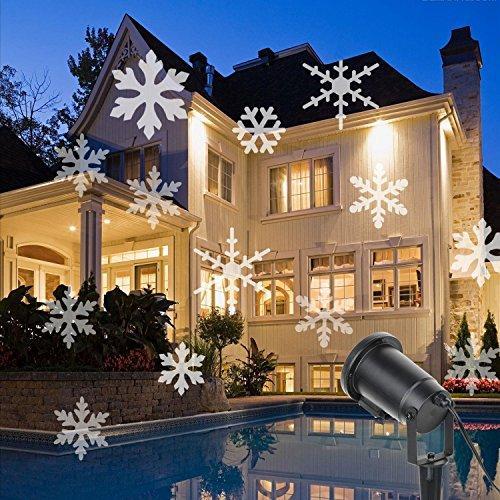 christmas light projector unuber moving white