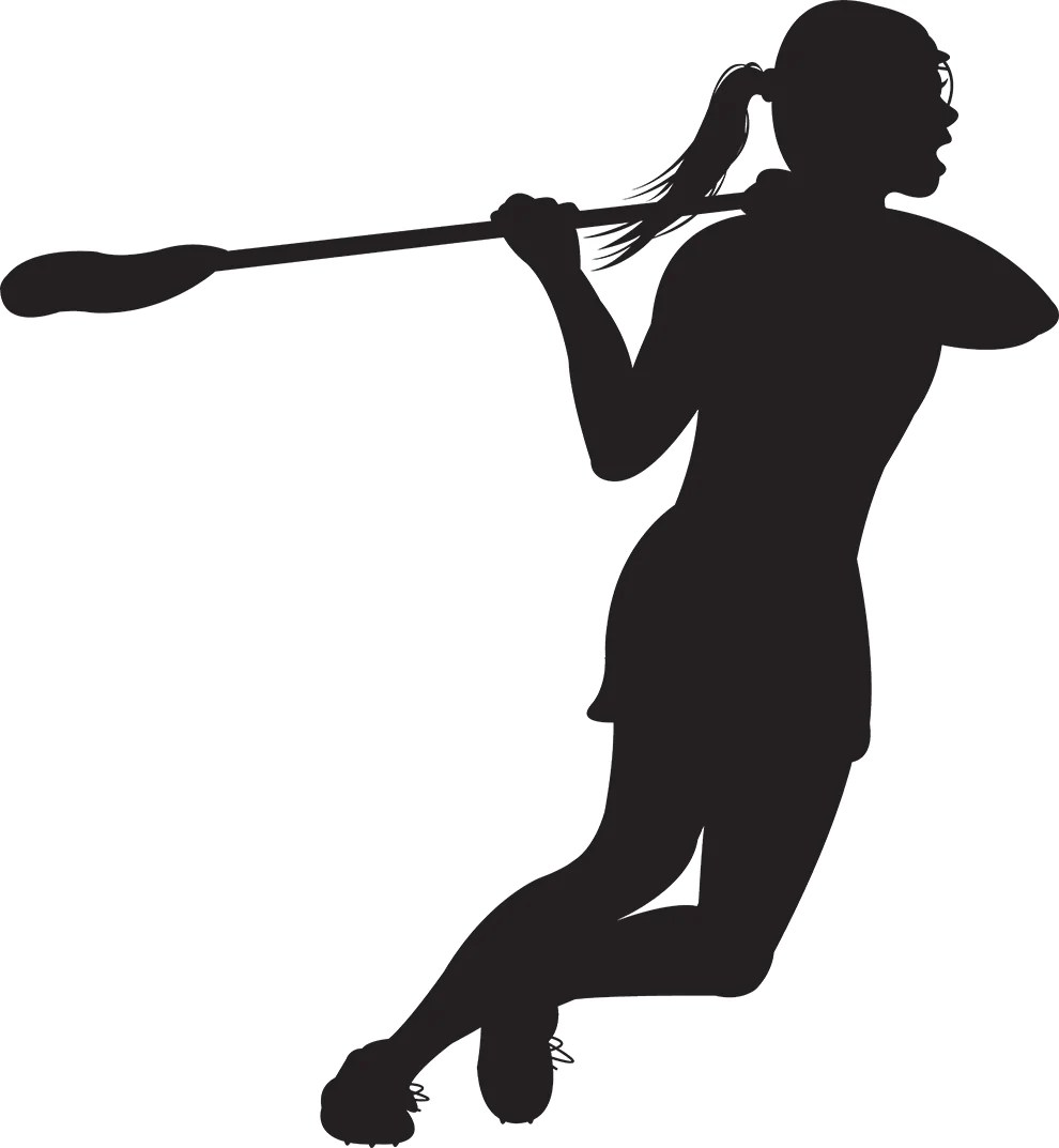 girl lacrosse shooter wall decal [ 990 x 1073 Pixel ]
