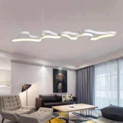 Living Room Lighting Fixtures Stone Wall Tiles For Pendant Lights Led Lamp Modern Hanglamp Aluminum Remote Control Dimming Hanging Fixture Kitchen