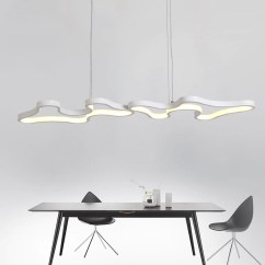 Hanging Pendant Light Living Room Track Lighting Ideas For Lights Led Lamp Modern Hanglamp Aluminum Remote Control Dimming Fixture Kitchen