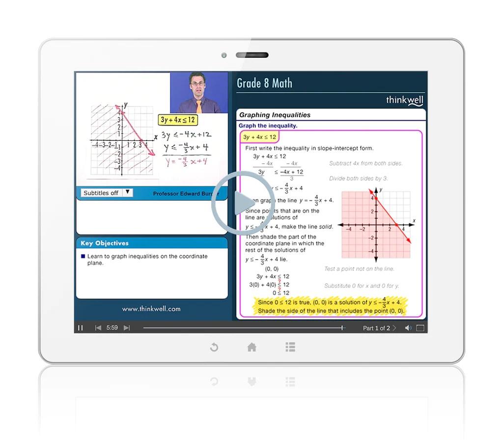 8th Grade Math Companion   Thinkwell [ 907 x 1024 Pixel ]