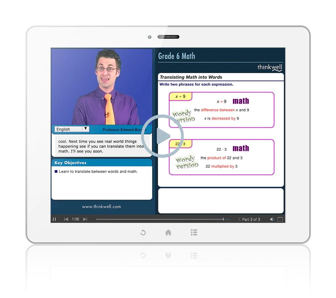 hight resolution of 6th Grade Math Companion   Thinkwell