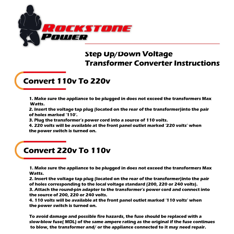 small resolution of  rockstone power 5000 watt heavy duty step up down voltage transformer converter step up