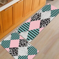 Kitchen Carpet Cute Utensils 2pcs Set Large Alfombra Mats In Bathroom Amp 1