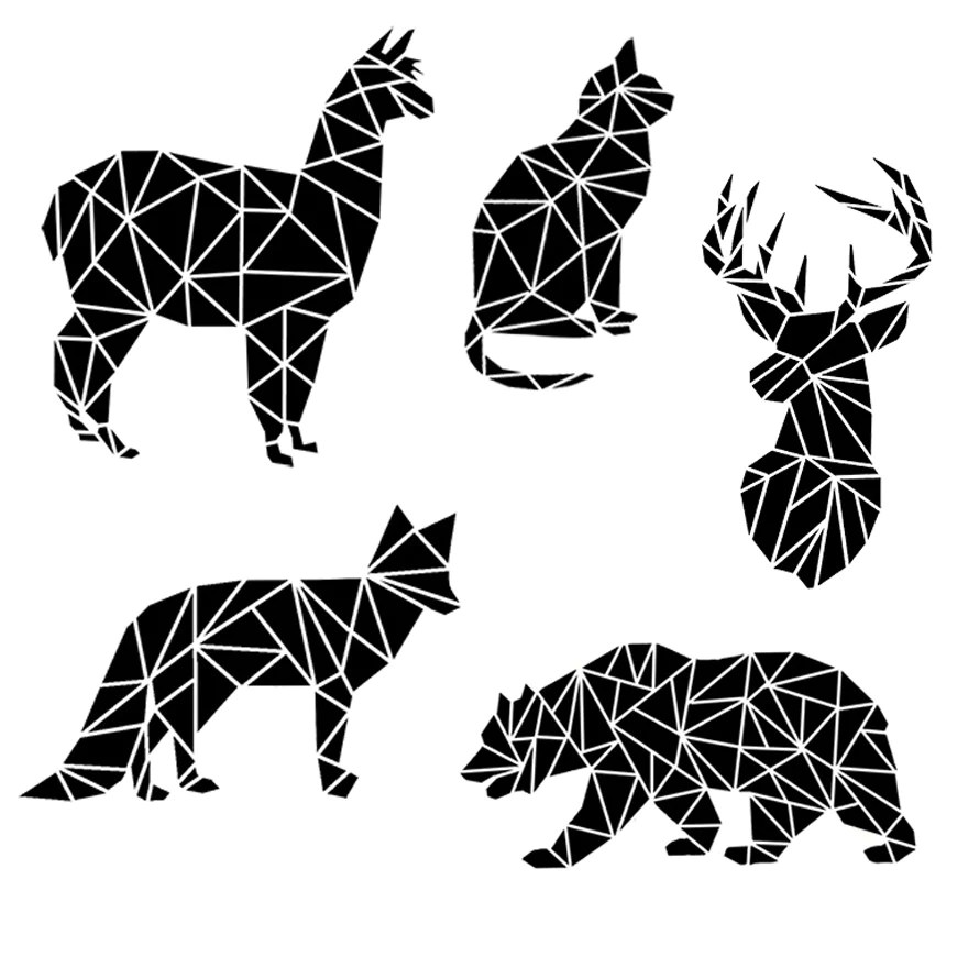 fractured animal silhouette svg