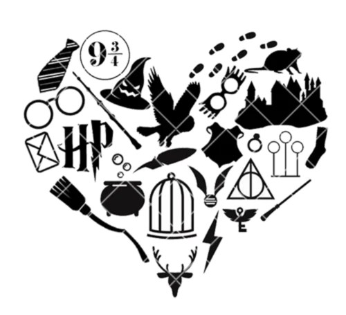 wizarding icon heart svg