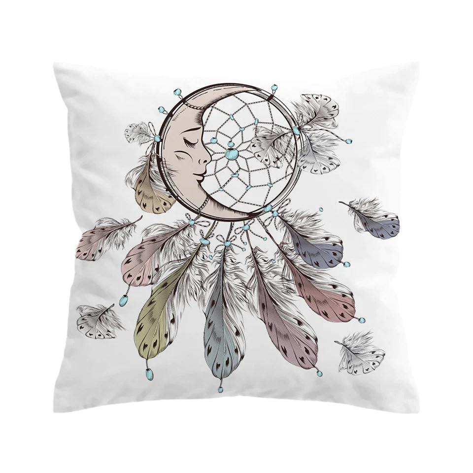 bohemian sofa bed how do i take apart a beddingoutlet moon dreamcatcher cushion cover pillowcase for buy throw feather decorative pillow