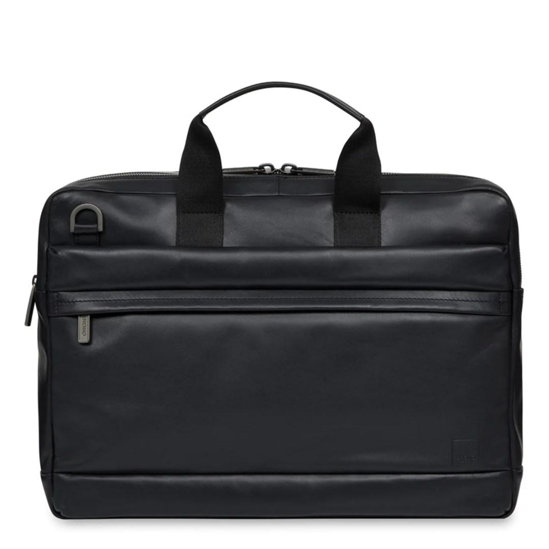 348eca32cbae KNOMO Black Reeves Leather Laptop Briefcase – 14″ KNOMO® – Knomo –  171.75