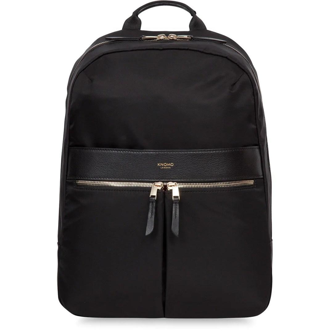 f12c7affb863 KNOMO Black Beauchamp Laptop Backpack – 14″ KNOMO® – Knomo – $149.00