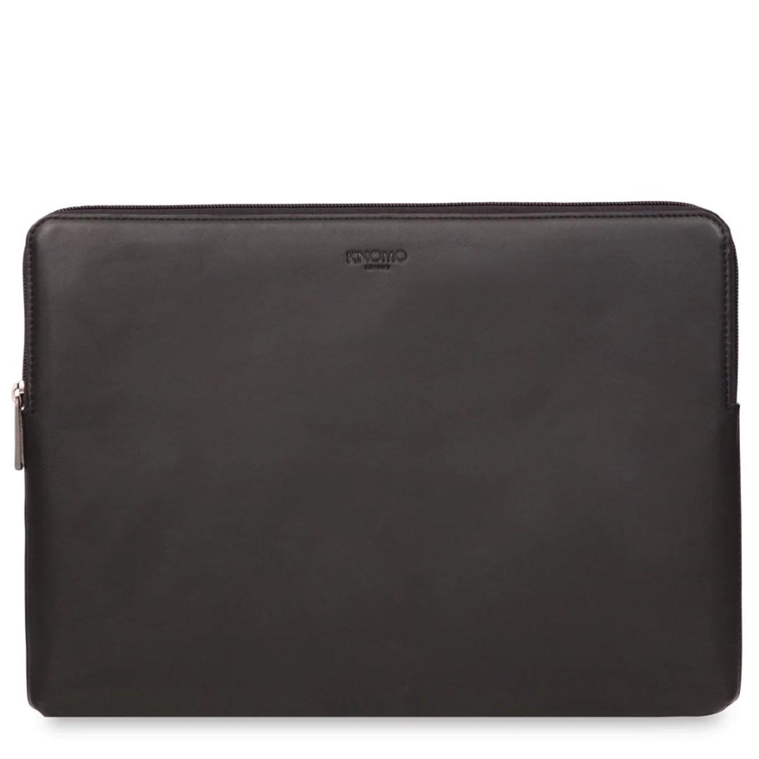 7b3a77dc3 KNOMO Black Leather Laptop Sleeve – 15″ Leather Laptop Sleeve – 15″ KNOMO®  – Knomo – $89.00