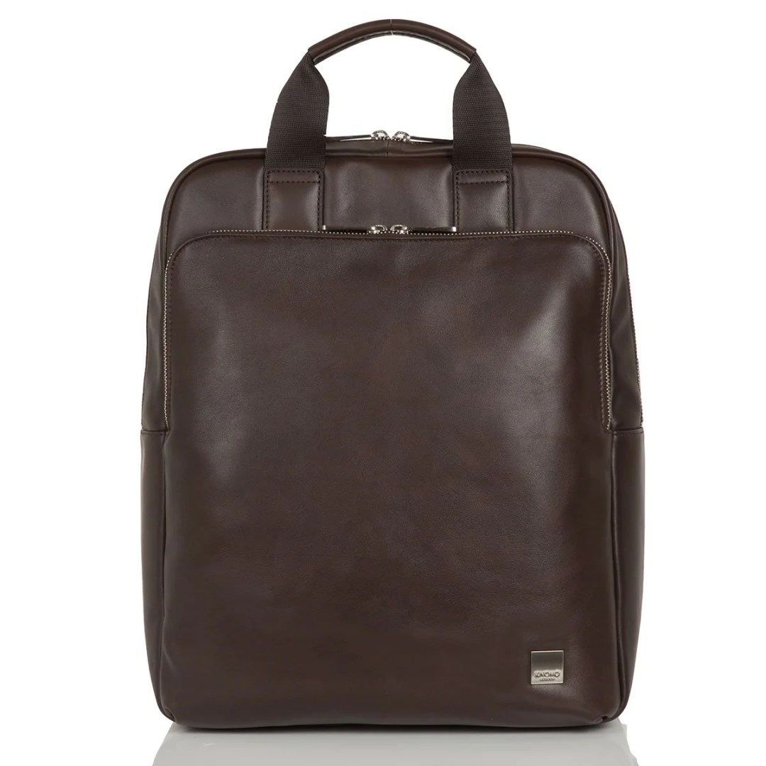 8200a30eea1d KNOMO Brown Dale Leather Laptop Backpack – 15″ KNOMO® – Knomo – $246.75