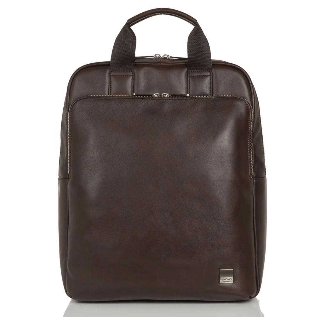 4b7b1c8b05b4 KNOMO Brown Dale Leather Laptop Backpack – 15″ KNOMO® – Knomo –  246.75