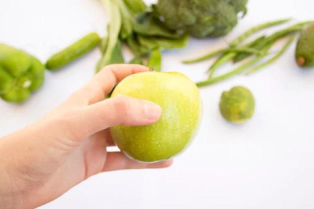 green fruits green apple