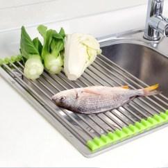 Kitchen Drying Rack Tiled Floors Rollupdrain Portable Gizmosified