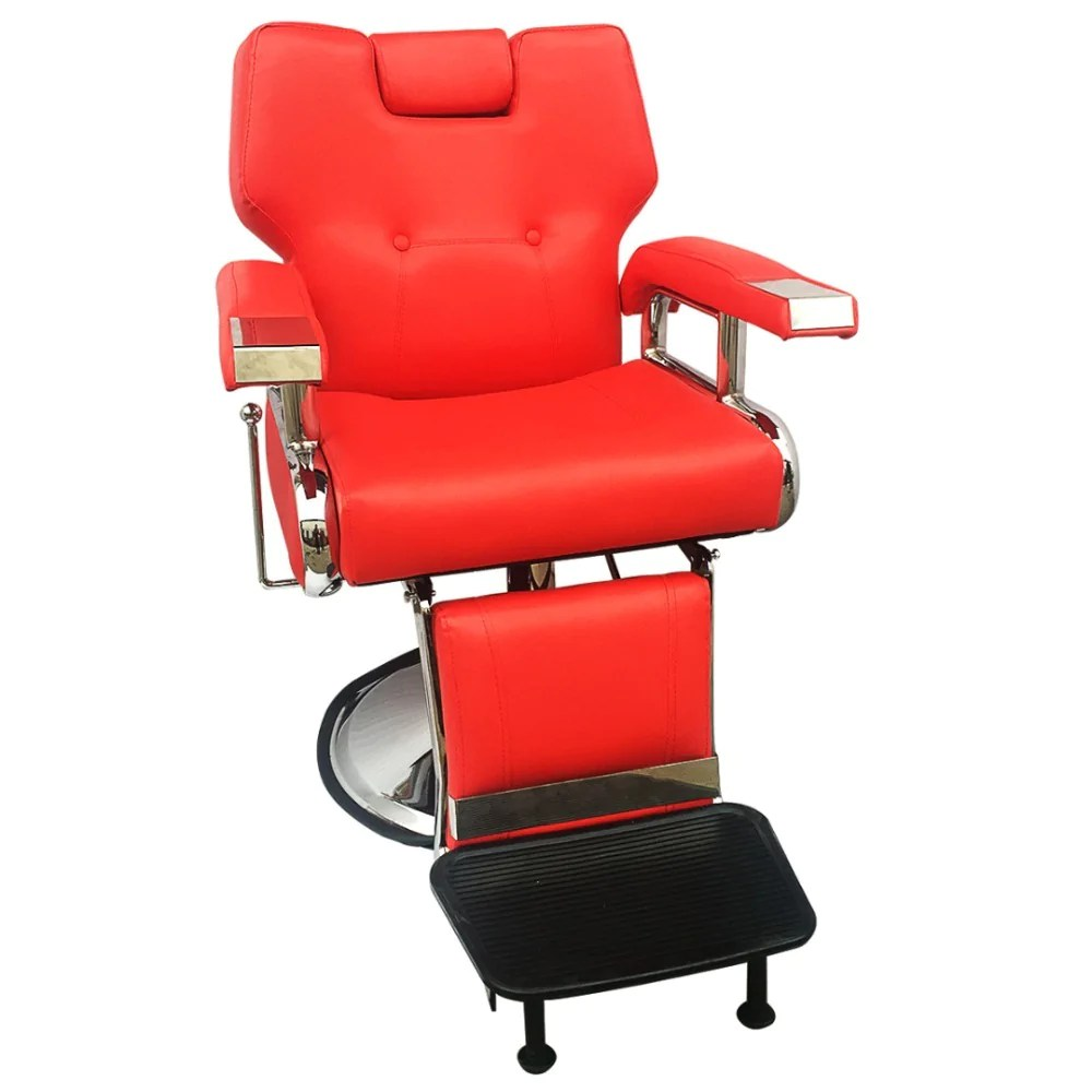 Beauty Salon Chair Cliniva Adjustable Reclining Hydraulic Barber Chair Shampoo Spa Beauty Salon Chair Equipment Set Red