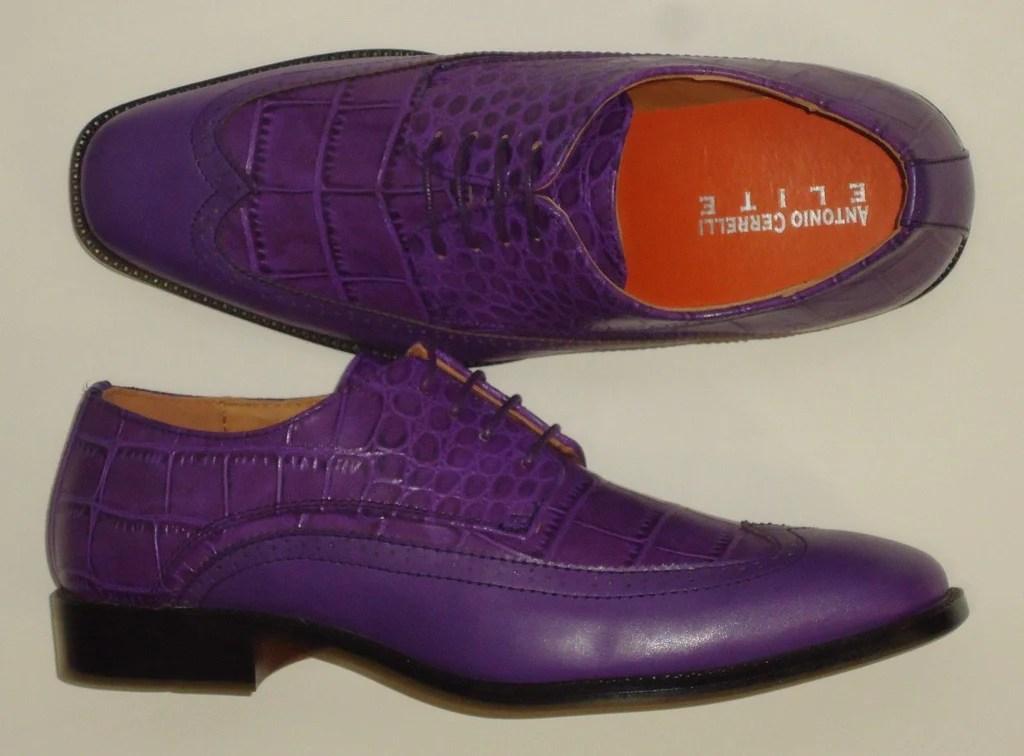 mens classic purple wingtip