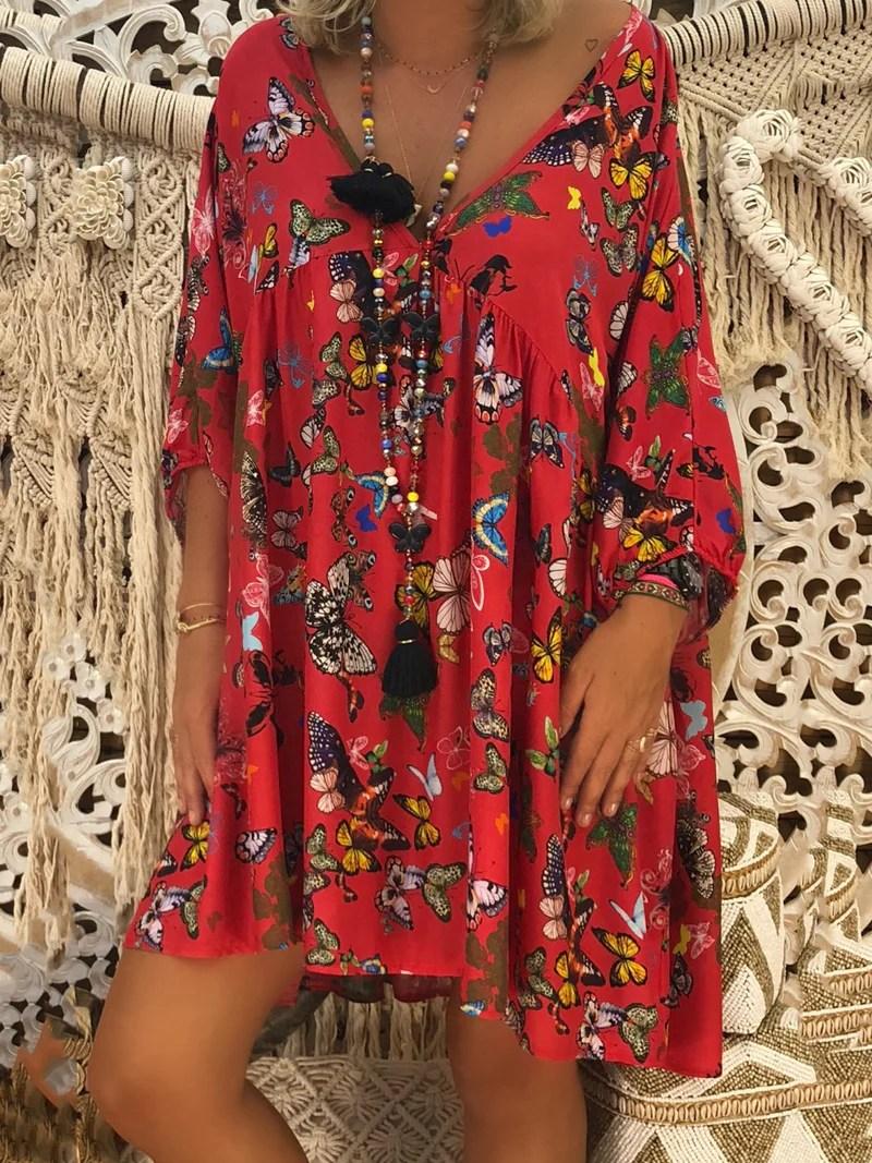 noracora Summer Dresses Long Sleeve Shirt Dress Daily