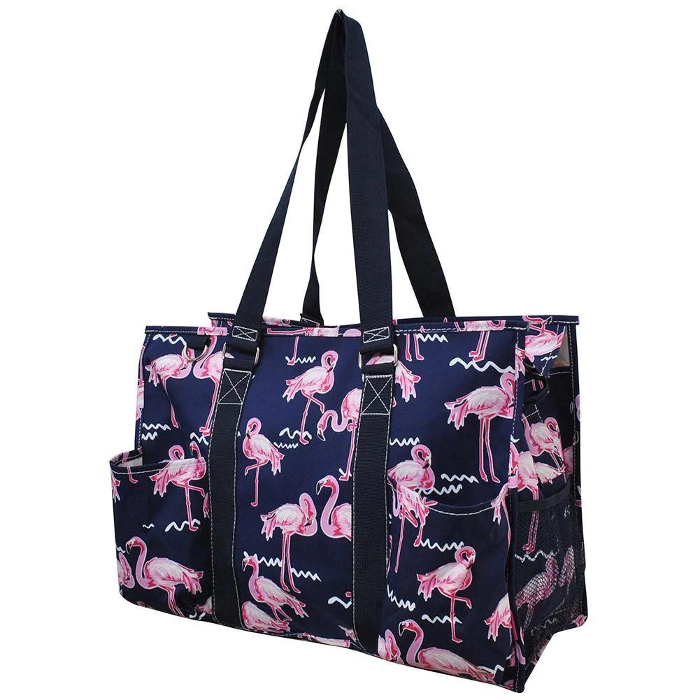 flamingo ngil zippered caddy
