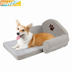 Soft Sofa Dog Bed Mive Pawzroad Pet Kennel Cute Paw Design Gray Cat