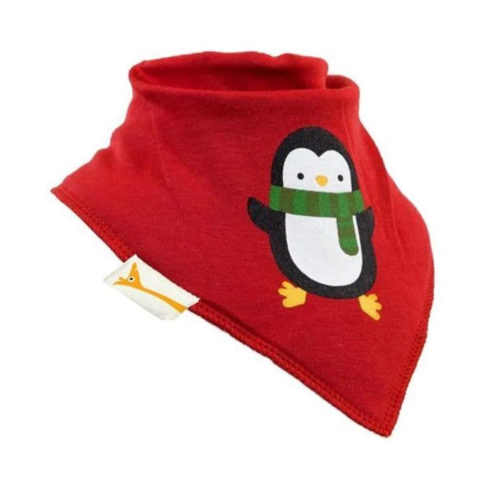red penguin bandana bib