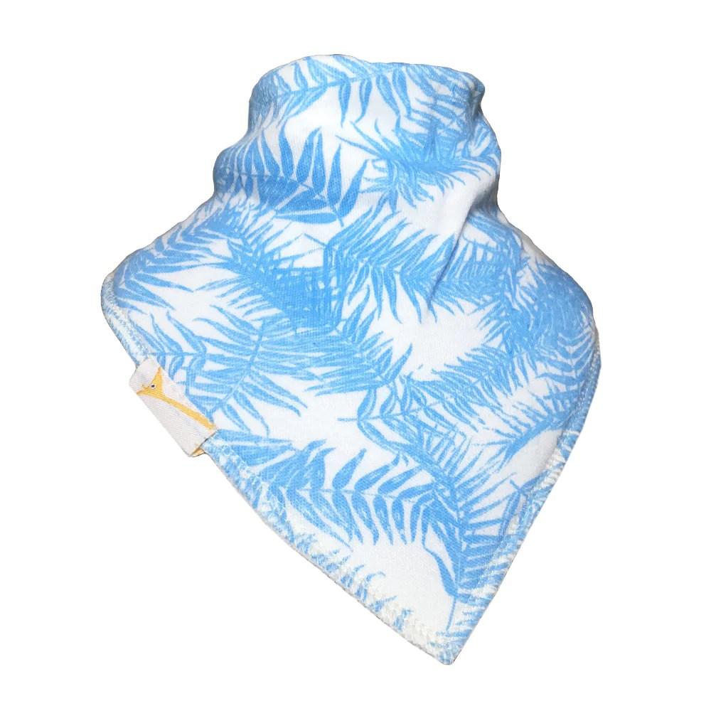 light blue leaves bandana