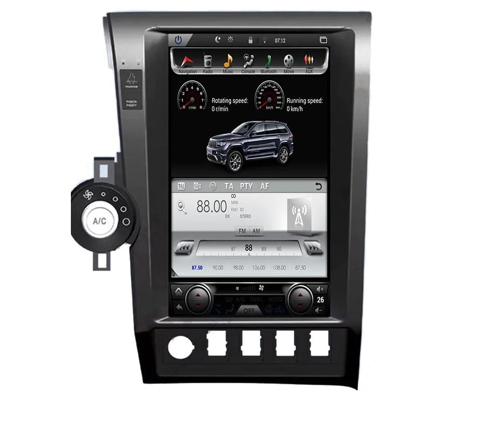 toyota tundra 2007 2013 toyota sequoia 2008 2018 13 6 vertical screen android radio [ 953 x 863 Pixel ]