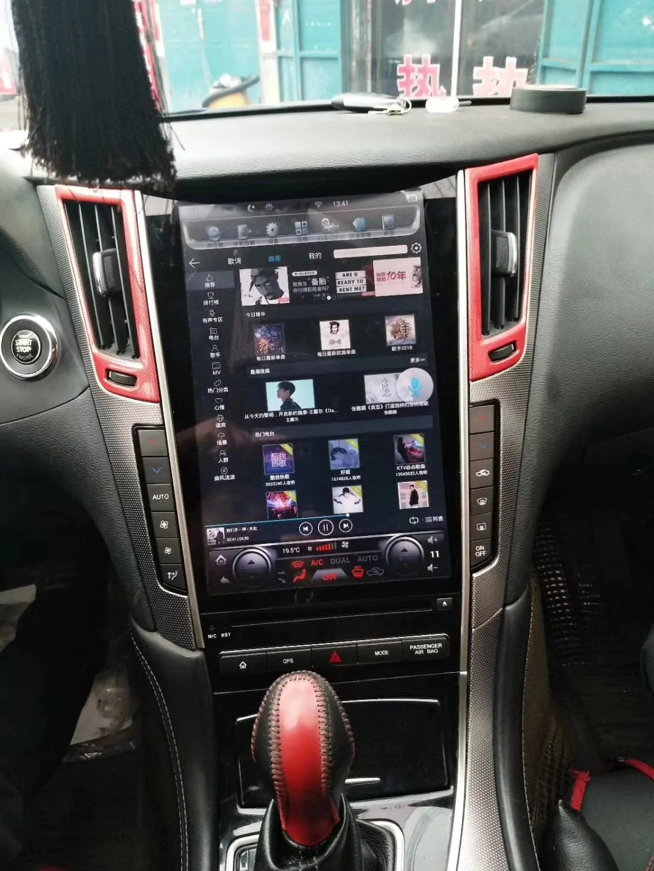 medium resolution of infiniti q50 q50l q60 12 1 vertical screen android radio tesla style