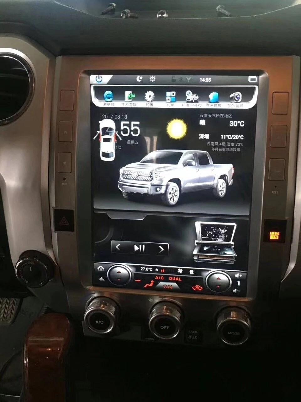 medium resolution of rhino radios toyota tundra 2014 2017 12 1 vertical screen android radio
