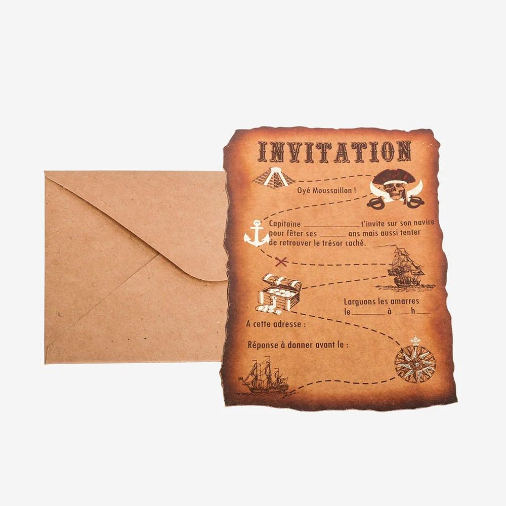 carte invitation anniversaire pirate 8