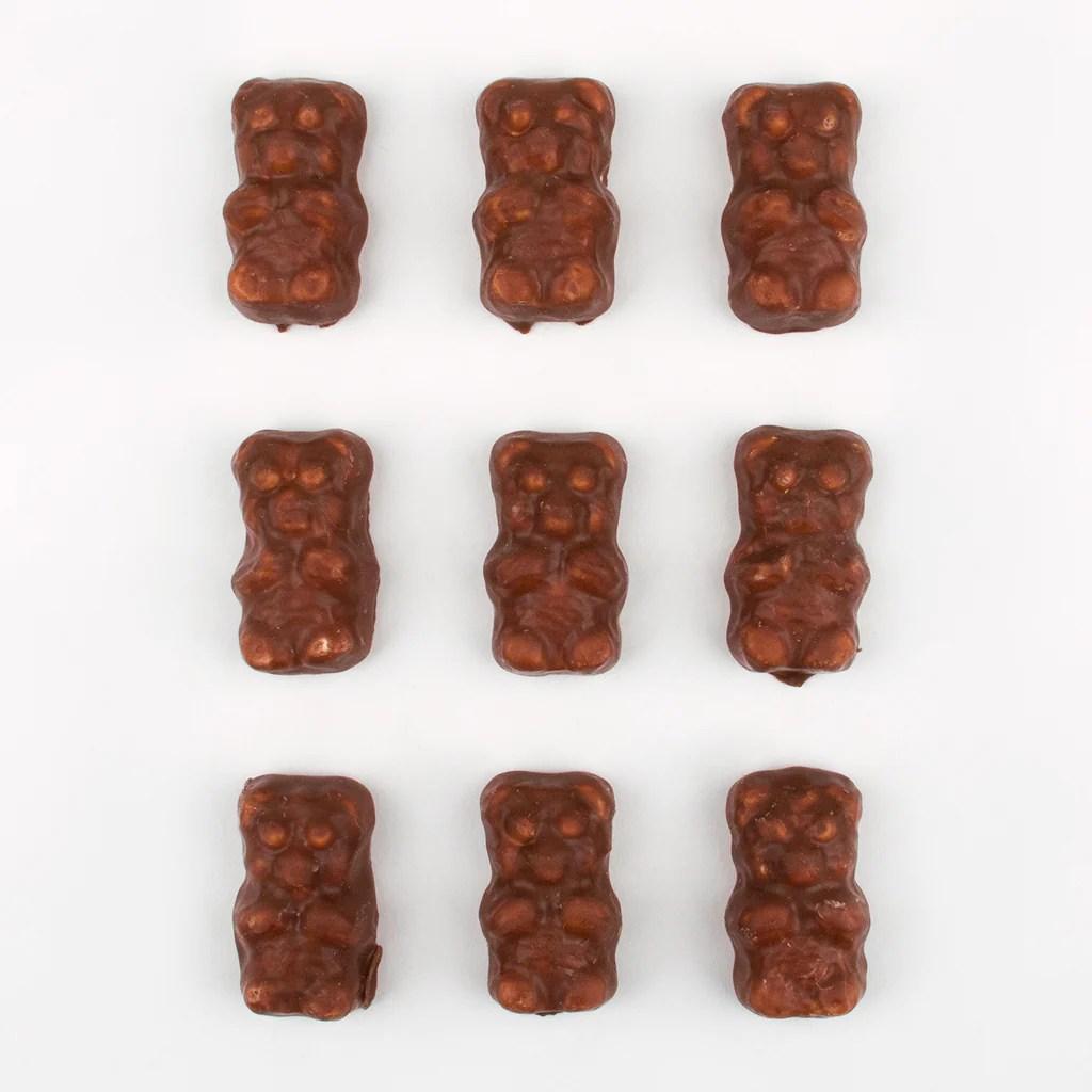 1 seau d oursons en guimauve chocolat au lait