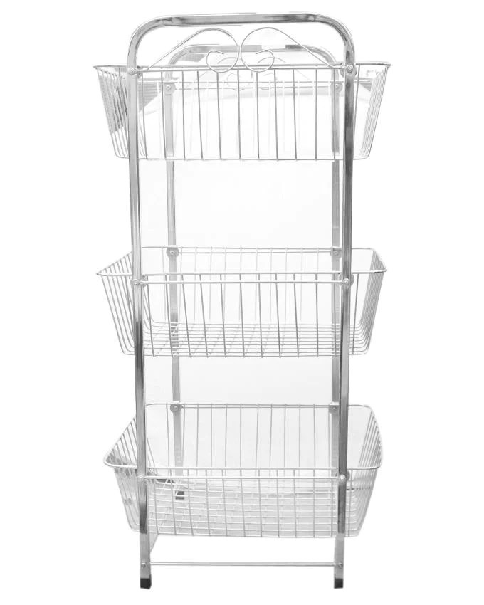 metal kitchen rack pottery barn kitchens stainless steel 3 tiered rectangular clickmall